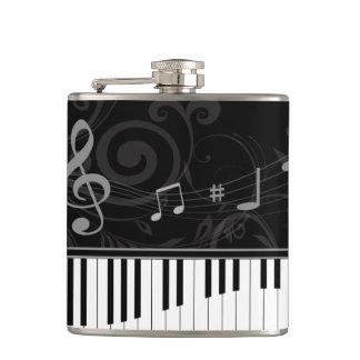 お洒落なピアノおよび音符 フラスク