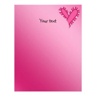 お洒落なピンクのハートの落書き レターヘッド