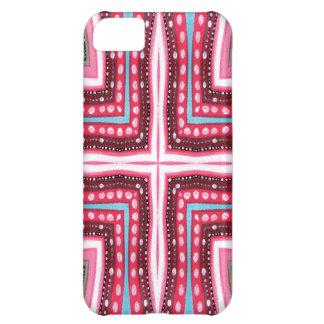 お洒落なピンクの十字 iPhone5Cケース