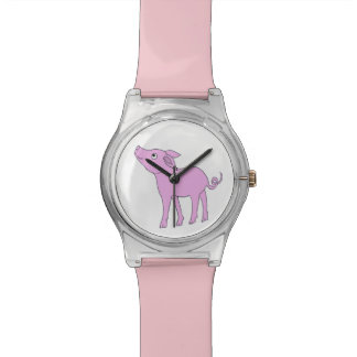 お洒落なブタの腕時計 腕時計