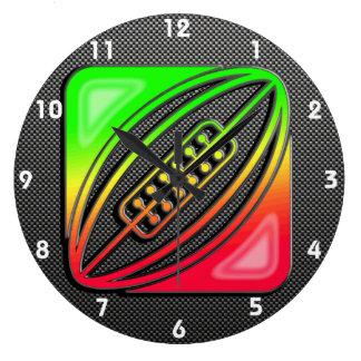 お洒落なラグビー ラージ壁時計