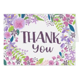 お洒落なラベンダーの花柄は感謝していしています カード