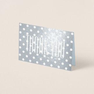 お洒落なレトロの最小主義のガーリーな水玉模様は感謝していしています 箔カード