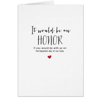お洒落な原稿それは名誉の婚礼の日です カード
