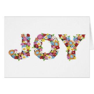お洒落な喜びの春の花の庭の休日カード カード