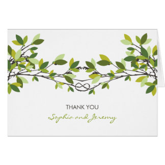 お洒落な愛結び目の夏の木の結婚は感謝していしています カード
