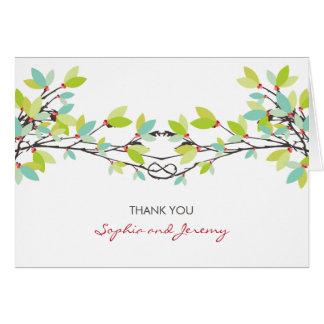 お洒落な愛結び目の春の木の結婚は感謝していしています カード