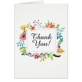 お洒落な手塗りのトンボの花は感謝していしています カード