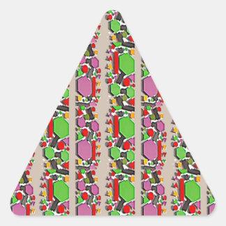 お洒落な抽象美術: シンプルで芸術的なパターン 三角形シール