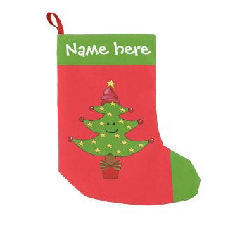 お洒落な木のクリスマスのストッキング スモールクリスマスストッキング