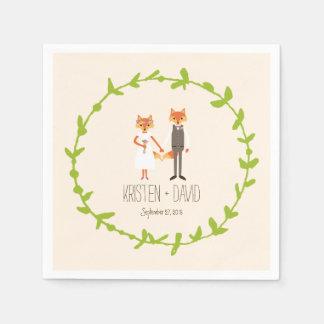 お洒落な森林はアイボリーの結婚式を孤色に変色させます スタンダードカクテルナプキン