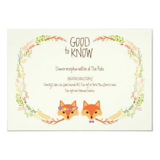 お洒落な森林はアイボリーの結婚情報カードを孤色に変色させます 8.9 X 12.7 インビテーションカード