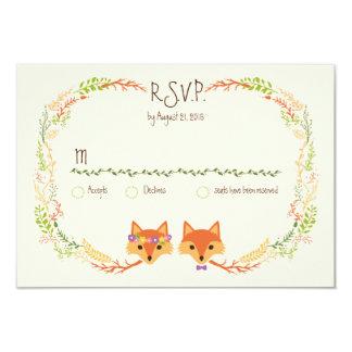 お洒落な森林は結婚式のアイボリーRSVPを孤色に変色させます カード