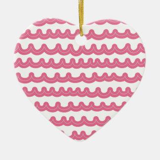 お洒落な海洋波のピンク セラミックオーナメント