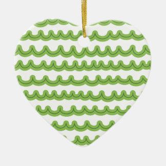 お洒落な海洋波の緑 セラミックオーナメント