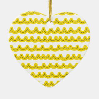 お洒落な海洋波の黄色 セラミックオーナメント
