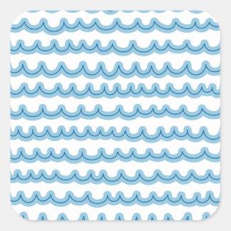 お洒落な海洋波 スクエアシール
