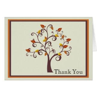 お洒落な秋の木は感謝していしています カード