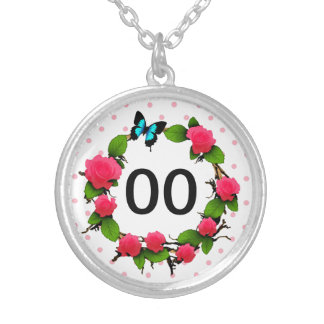 お洒落な第50第60第70第80誕生日レディースは上がりました シルバープレートネックレス