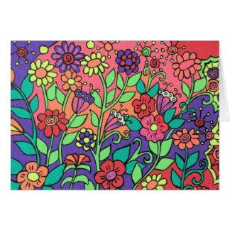 お洒落な花カード カード