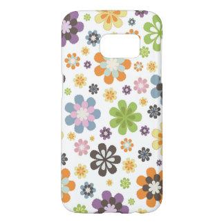 お洒落な花模様 SAMSUNG GALAXY S7 ケース
