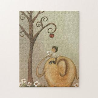 お洒落な芸術のパズル象の花の妖精 ジグソーパズル