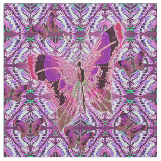 お洒落な蝶 ファブリック