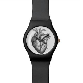 お洒落な解剖ハートの腕時計 腕時計