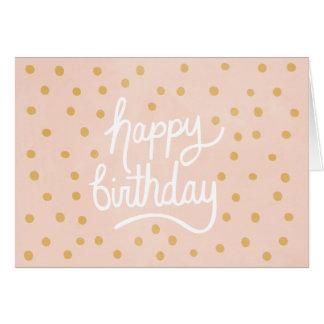 お洒落な誕生日の挨拶状 カード