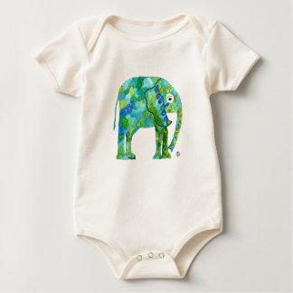 お洒落な象のオーガニックな赤ん坊のボディスーツ ベビーボディスーツ