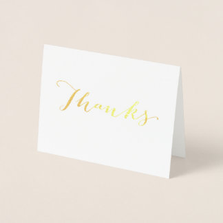 お洒落な金ゴールドホイルのサンキューカード 箔カード