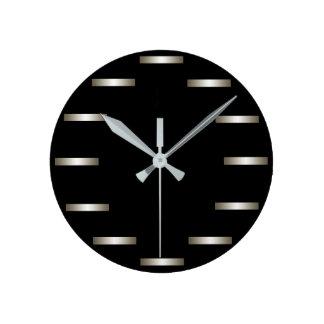 お洒落な銀製の黒いミニマリズム都市CricketDiane ラウンド壁時計