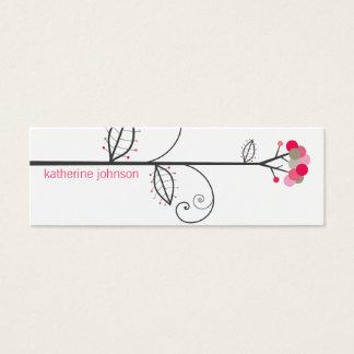 お洒落な開花の木はカラフルなプロフィールカードに点を打ちます スキニー名刺
