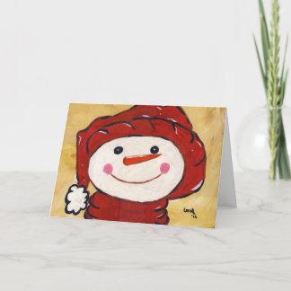 お洒落な雪だるまカード クリスマスカード