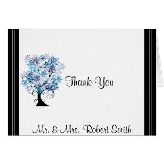 お洒落な雪片の木の優雅な結婚式は感謝していしています カード