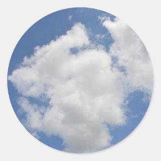 お洒落な雲のステッカー ラウンドシール