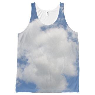 お洒落な雲のユニセックスなタンクトップ オールオーバープリントタンクトップ