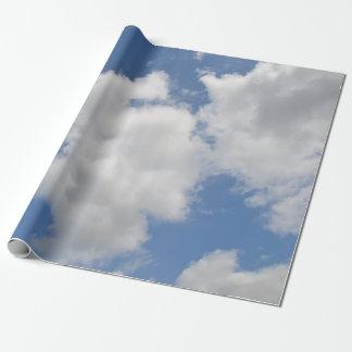 お洒落な雲の包装紙 ラッピングペーパー