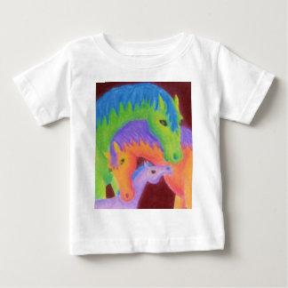 お洒落な馬家族の衣類 ベビーTシャツ