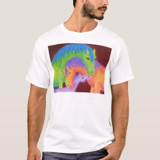 お洒落な馬家族の衣類 Tシャツ