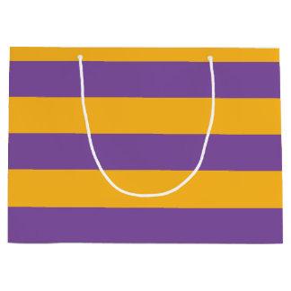 お洒落な魔法使いは縞で飾ります ラージペーパーバッグ