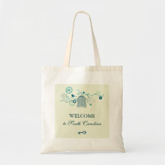 お洒落な鳥籠の結婚式のバッグ トートバッグ