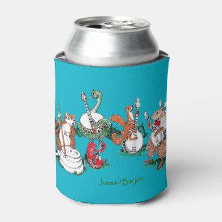 お洒落なJamminのバンジョーの野性生物のミュージカル 缶クーラー