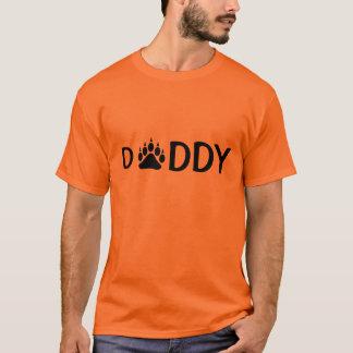 お父さんくま足の黒 Tシャツ
