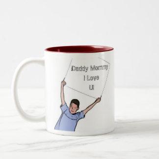 お父さんのお母さんI愛 ツートーンマグカップ