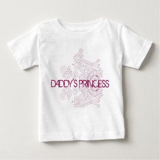 お父さんのプリンセスのベビーのTシャツ ベビーTシャツ