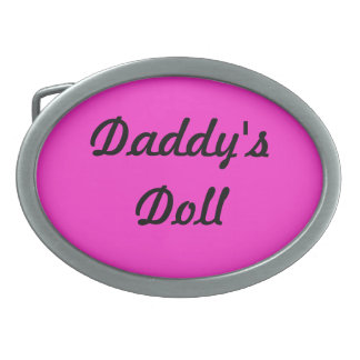 お父さんの人形ベルトBuckel 卵形バックル