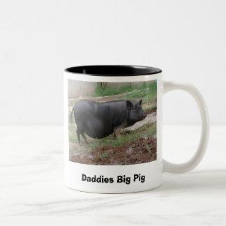 お父さんの大きいブタ ツートーンマグカップ