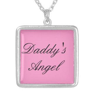 お父さんの天使のネックレス シルバープレートネックレス