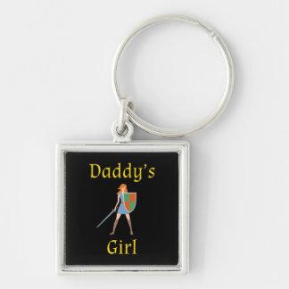 お父さんの女の子の剣および盾Keychain キーホルダー